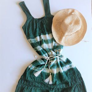 Vintage Boho Embroidered Sleeveless Dress